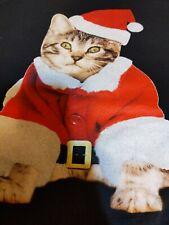 Cat Kitten Calico Meow Christmas Shirt Kitty Cats Xmas Holiday size large