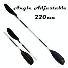 Lightweight Aluminium Kayak 2 Piece Paddle 3 Position Angle 2200mm 33mm Shaft