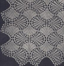Vintage Crochet PATTERN to make Fan Flower Bedspread Motif Block Design FanBedsp