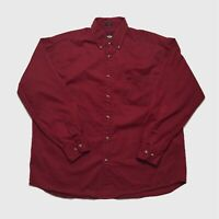 Mens Vintage 90's Shirt Large Dockers Red Long Sleeve