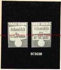 """1950s PA Philadelphia SCHMIDT'S BEER """"Copy Cards"""" Artist Proof Sketch"""