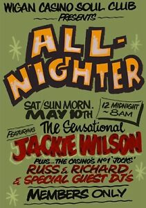 Superb Iconic A3  Wigan Casino Northern Soul Poster
