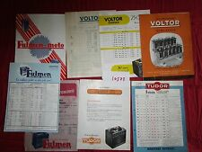 N°10573 / prospectus batterie TUDOR,FULMEN,VOLTOR 1950-1961 environ
