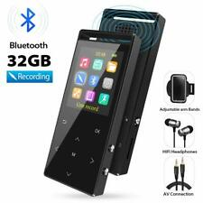 32GB MP3 Players with Bluetooth, Hi-Fi Lossless Sound with FM Radio Voice Record