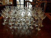 LIbbey Rock Sharpe 3005-4 Wine, Champagne, Cordial, or Liquor cocktail 33 pieces