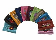 10 PIECE WHOLESALE  FACEMASK SET , EMBROIDERED, MEXICO , TWO LAYERS , REUSABLE ,