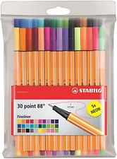 Fineliner - STABILO point 88 Wallet of 30 Assorted Colours incl 5 neon colours