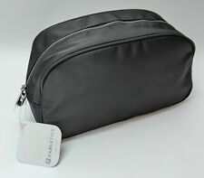 Fabletics Travel Cosmetic Bag in Black with Plastic Zip Up Toiletry Bag Makeup