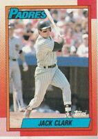 FREE SHIPPING-MINT-1990 Topps #90 Jack Clark San Diego Padres PLUS BONUS CARDS