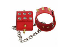Fire Red Wrist Cuffs