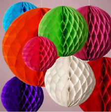 12pcs Honeycomb Paper Ball Colorful Wedding Party Hanging Decoration birthday