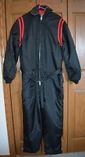 VTG Women's Snowmobile Snow Ski Suit SMALL One Piece Black/Red NM Belted