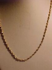 "Gold Herringbone Twist Chain Necklace 30"""