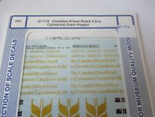 Microscale Decals Stock #87-718 Canadian Wheat Board 4-Bay Cylindrical Hopper HO