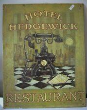 PLAQUE métal DECORATIVE : Restaurant Hôtel Hedgewick