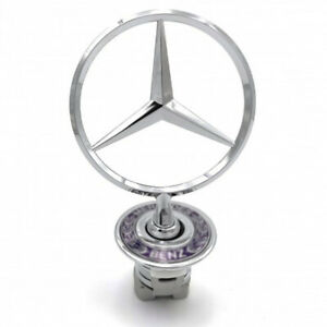 Mercedes Benz Bonnet Badge Logo Emblem Hood 44mm W124 W202 W203 W208 W210 W211