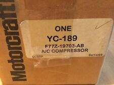 NOS Genuine Motorcraft/Ford A/C Compressor YC-189/F77Z-19703-AB