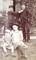 Unusual Mid 1800s Victorian Carte de Visite Card Photograph of Children
