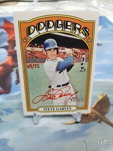2021 Topps Heritage Real One Red Ink Autograph Auto STEVE GARVEY 69/72 Dodgers