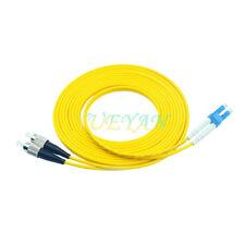 50M Duplex Single Mode 9/125 LC to FC Optical Fiber Patch Cord Jumper Cable SM