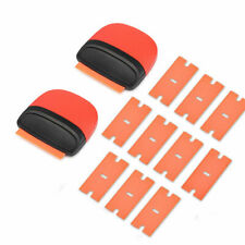 10 Pcs Plastic Razor Blades, 2 Micro Scraper Double Edged Sticker Removal Tools