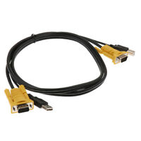USB Printer Cable USB Male to USB B Male Cable for KVM Switch Male VGA Cable