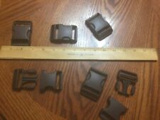 "10 New 1 1/2"" Duraflex Dark Brown Plastic Buckles/Stealth"