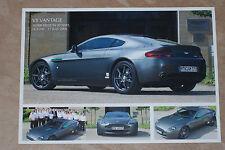 ASTON MARTIN V8 Vantage brochure sheet 2006