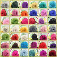 Sale New 1 Ball x 50gr Quick Hand Knitting Yarn Soft Worsted Wool Silk Velvet A