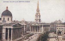 LONDON : National Gallery & St Martin's Church -PHOTOCHROM