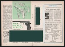 1965 Star Model F .22 Pistol Exploded View~Parts List~Assembly Article