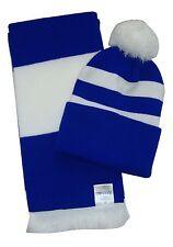 Royal Blu e Bianco, Sciarpa e Cappello Set-Made in UK