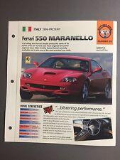 "1996> Ferrari 550 Maranello IMP ""Hot Cars"" Spec Sheet Folder Brochure #1-25 L@@K"