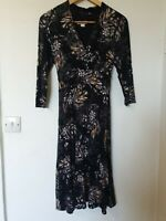Monsoon Floral Abstract Stretchy Midi Dress Size 12