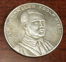 Nazi Third Reich Adolf Hitler coin 1933 Exonumia WW2 WWII German