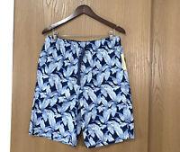 Tommy Bahama Men's Size M Swim Trunks Board Shorts Blue Palms Print New