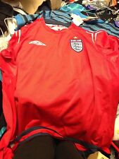 ENGLAND SHIRT 2002/4 away IN LARGE OR X X/LARGEAT £22 long SLEEVE BNWL