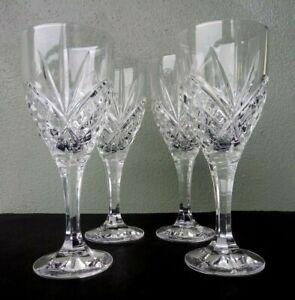GODINGER - SHANNON CRYSTAL - DUBLIN - GOBLETS / WINE GLASSES - SET OF 4