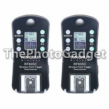 Yongnuo RF605C RF605 Wireless Radio Flash Trigger Shutter Release for Canon DSLR
