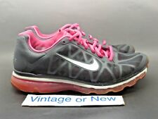 Women's Nike Air Max+ 2011 Anthracite Spark Pink Running 429890-006 sz 8.5