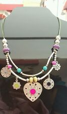 Vintage colourful statement necklace