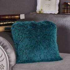 New Nube Shaggy Pillow Turquoise 19 x 19 With Filling FREE SHIPPING!!