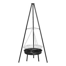 "Benross 20"" Outdoor Garden Patio Tripod BBQ Barbeque Grill and Firepit - Black"