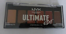 NYX Ultimate Edit Petite Eye Shadow Palette Powder 6 Warm Neutrals Colours 1.2g