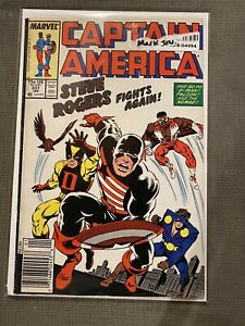 CAPTAIN AMERICA #337 Vol 1 1st U.S. Agent Costume Newsstand 1988 Mark Jeweler VF