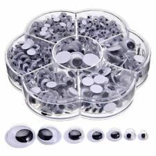 700X Bricolage ronde auto-adhésif Wiggly yeux écarquillés pour les jouets Poupée