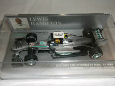 NEW MINICHAMPS F1 ~ 1:43 ~ Lewis Hamilton ~ Mercedes F1 Team ~ Malaysian GP 2013