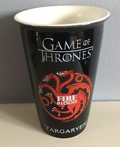 Game of Thrones Fire & Blood Targaryen Ceramic Reusable Travel Coffee Mug Cup