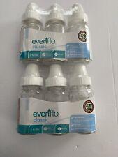 6 Pack Evenflo Classic Glass Bottle, 4-Ounce (22E)