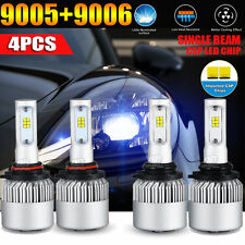 4x 9006 9005 920W 92000LM LED Combo CSP Headlight Bulbs Hi-Lo Beam 6500K White